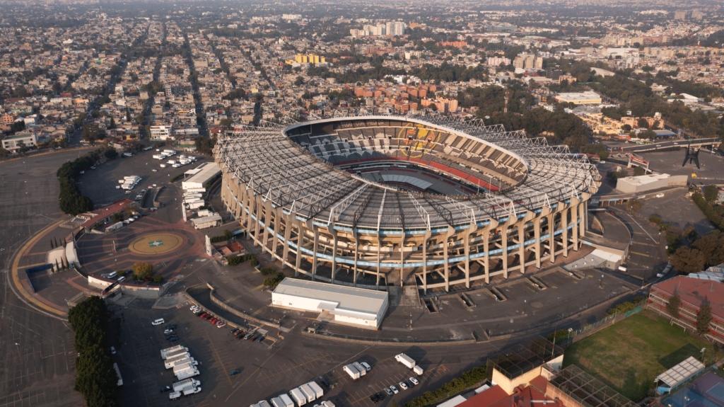 La Liguilla con público en el Estadio Azteca. Foto: Twitter