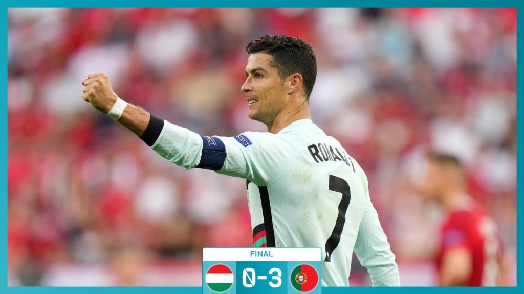 Portugal se impone a Hungría con goles de Cristiano Ronaldo. Foto: Twitter